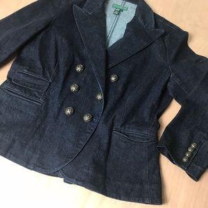 Lauren Jeans Company Ralph Lauren Denim Blazer L